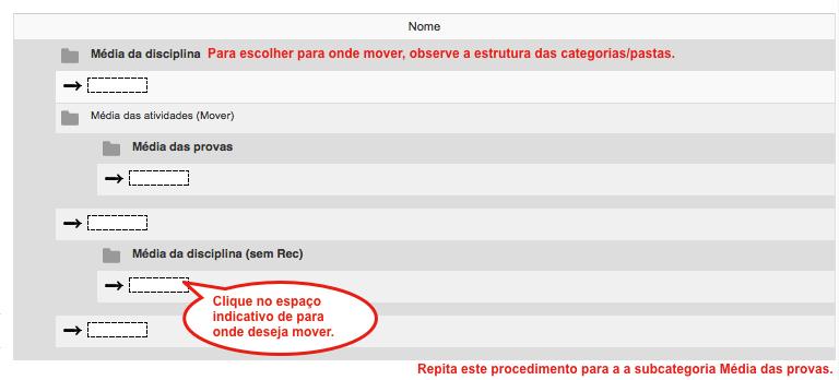 4 - Mover categorias