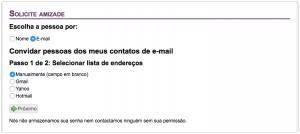 Selecione E-mail e clique em Próximo