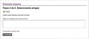Digite o e-mail do(s) aluno(s) sem número USP e clique em Convidar!