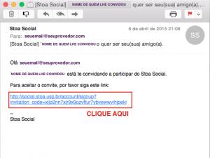 Este é o e-mail que o aluno irá receber. Peça ao aluno que fique atento a caixa de SPAM.